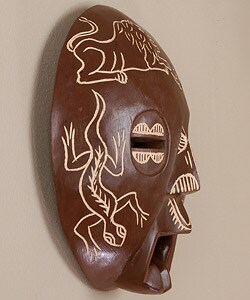 Hand-chiseled Animal Kingdom Mask (Ghana)