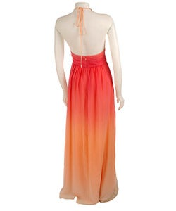 Max and Cleo by BCBG Ombre Necklace Halter Dress - Thumbnail 1