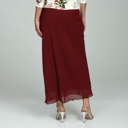 Adi Designs Women's Long Chiffon Skirt