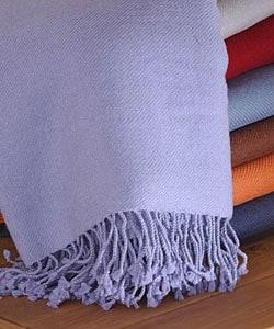 Himalaya Luxury Cashmere Throw Blanket - Thumbnail 1