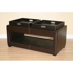 Flip Top Storage Tray Ottoman Bench Free Shipping Today