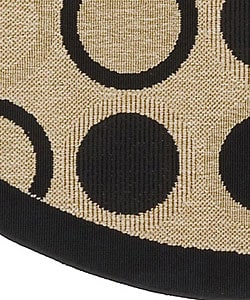 Cafe Series Indoor/ Outdoor Rug (8'9 Round) - Thumbnail 1