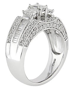Miadora 14k White Gold 2ct TDW Diamond Engagement Ring - Thumbnail 1