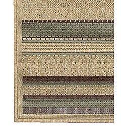 Cafe Series Stripe Indoor/Outdoor Rug (8'9 x 12'9) - Thumbnail 1