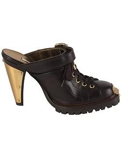 Miu Miu Brown Leather Clog
