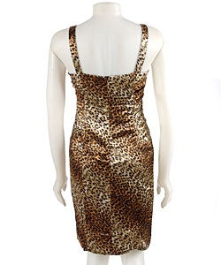 Thumbnail 2, Essentials by A.B.S Sheath Leopard Print Dress. Changes active main hero.