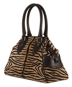 Fendi Small Zebra Print 'Bag du Jour' Satchel