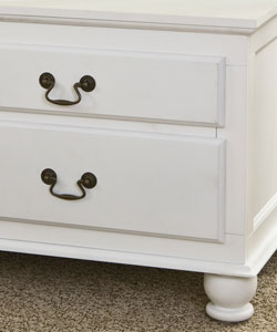 Windsor 4-drawer White Storage Bench - Thumbnail 1