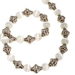 White Cat's Eye Necklace