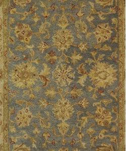 Safavieh Handmade Antiquities Jewel Grey Blue/ Beige Wool Rug (4' x 6') - Thumbnail 1