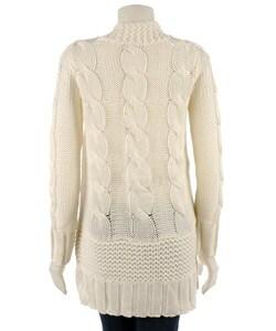 BCBGirls Cable Knit Cardigan - Thumbnail 1