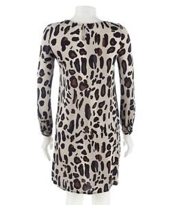 Eliza J Animal Print Shift Dress