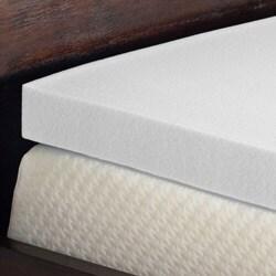 Comfort Dreams Enviro Green 3-inch Queen/ King-size Memory Foam Mattress Topper - Thumbnail 1