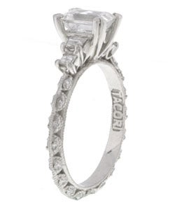 Tacori Platinum CZ 1/2ct TDW Diamond Wedding Ring - Thumbnail 1