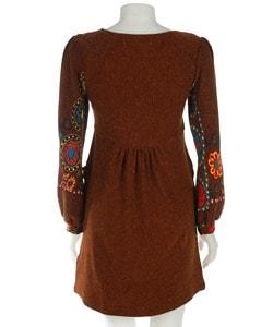 Bette Paige Long-sleeve Floral Sweater Dress