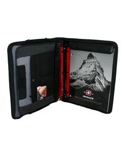 Shop Wenger Swiss Gear Ranger Black Blue Portfolio Case