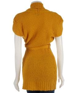 Talie Women's Cap Sleeve Belted Sweater Jacket - Thumbnail 1