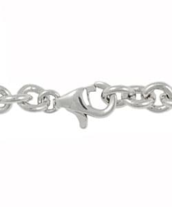 Journee Sterling Silver Chunky Heart Lock and Key Bracelet - Thumbnail 1