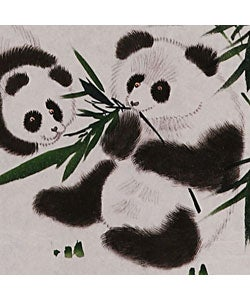 Shop Pandas and Bamboo Chinese Art Wall Scroll Painting ...