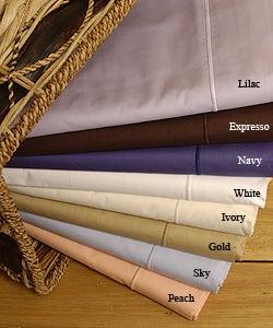 Amalfi 210 Thread Count Egyptian Cotton Luxury Sheet Set made in Italy - Thumbnail 1