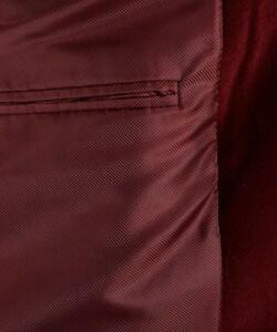 Adolfo Men's Burgundy Velvet Sportcoat - Thumbnail 1