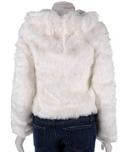 Thumbnail 2, B.B. Jeans Faux Fur Hooded Pom Pom Jacket. Changes active main hero.