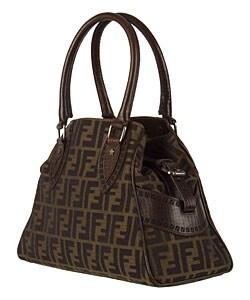 d00805d6800b Shop Fendi Jacquard Logo Zucca  Bag De Jour  Satchel - Free Shipping Today  - Overstock - 2700775