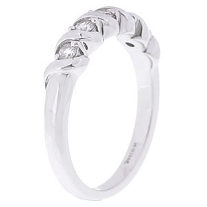 14k White Gold 1/4ct TDW 5-stone Diamond Ring (G-H, I2)