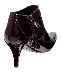 Nine West Packrat Women's Wine Patent Leather Bootie