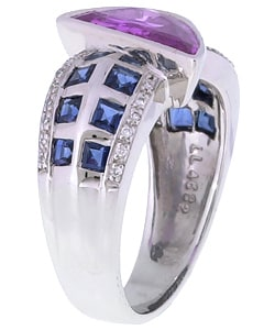 Thumbnail 2, Encore by Le Vian 18k Gold Pink Sapphire Diamond Ring. Changes active main hero.