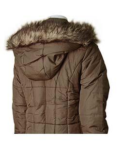 Bongo Knee-length Hooded Puffy Coat