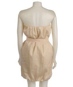 To The Max Beige Strapless Sheath Dress - Thumbnail 1