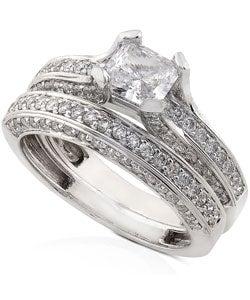 Annello by Kobelli 18k Gold 1 7/8ct TDW Diamond Bridal Ring Set (G-H, VS) - Thumbnail 1