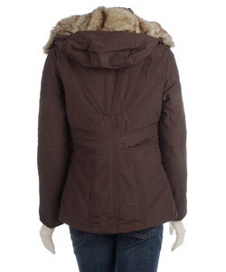 Sisters Women's Faux Fur Trimmed Hooded Jacket - Thumbnail 1