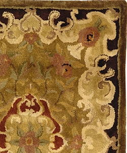 Safavieh Handmade Classic Juliette Gold Wool Rug (2' x 3') - Thumbnail 1