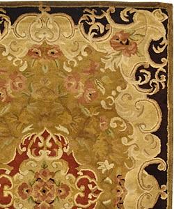 Safavieh Handmade Classic Juliette Gold Wool Rug (4' x 6') - Thumbnail 1