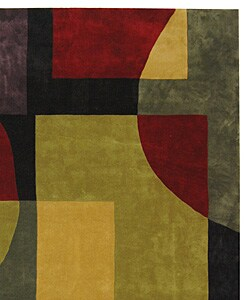 Safavieh Handmade Rodeo Drive Modern Abstract Black/ Multi Wool Rug (7'6 x 9'6) - Thumbnail 1