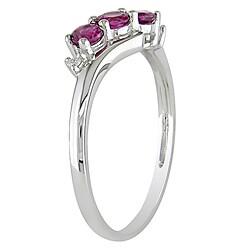 Miadora 10k White Gold Pink Tourmaline Ring - Thumbnail 1