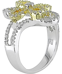 Miadora 18k Two-tone Gold 1/2ct TDW Diamond Ring (H-I-J, I1-2)