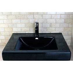 Mission Black Wall Mount Bathroom Sink - Thumbnail 1