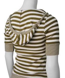 Parang Junior's Short-sleeve Striped Hoodie - Thumbnail 1