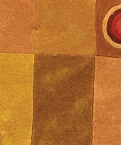 Safavieh Handmade Rodeo Drive Modern Abstract Khaki/ Rust Wool Rug (5'9 Round) - Thumbnail 1