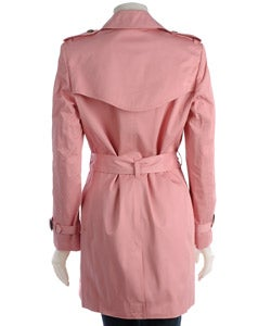 Famous NY Maker Signature Pink Trench Coat