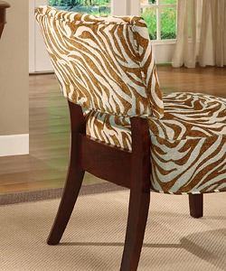 Nice ... Occasional Chair Brown Zebra Print ...