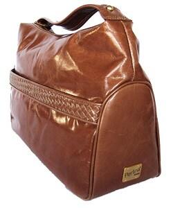 5ba8baf26c40 Shop Perlina Studio Leather Cognac Hobo Bag - Free Shipping Today ...