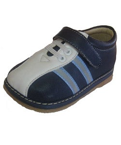 Squeakies Infant and Toddler Blue and White Shoes - Thumbnail 1