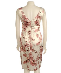 Connected Apparel Sleeveless Charmeuse Dress - Thumbnail 1