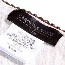Carolina Amato Green Beaded Camisole