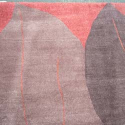 Tibetan Hand-knotted Burgundy/ Wine Rug (8' x 10') - Thumbnail 1