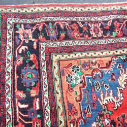 Persian Hamadan Handmade Red Rug (10'9 x 13'8) - Thumbnail 1